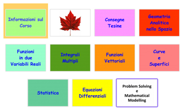 The modular structure of the Mathematical Models Course.